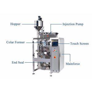 เครื่องซีลแบบเติมแนวตั้งด้วยเครื่อง Pistion Filler For Liquid